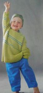 пуловер полосатый 001