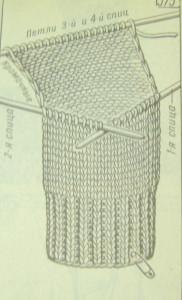 Вывязывание пятки носка